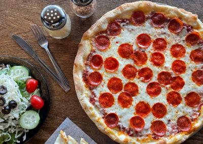 Delicious Salads and Stone Hearth Pizza